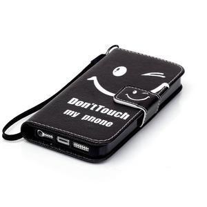 Peňaženkové puzdro pre mobil iPhone SE / 5s / 5 - nedotýkať sa - 4