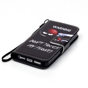 Peněženkové pouzdro na mobil iPhone SE / 5s / 5 - nešahat - 4