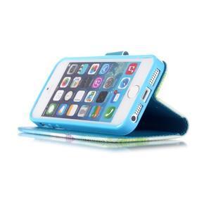 Peňaženkové puzdro pre mobil iPhone SE / 5s / 5 - púpavy - 4