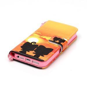 Peňaženkové puzdro pre mobil iPhone SE / 5s / 5 - zapadajúce slnko - 4