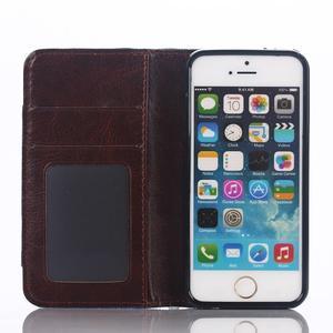 Jeans peněženkové pouzdro na mobil iPhone SE / 5s / 5 - modré - 4