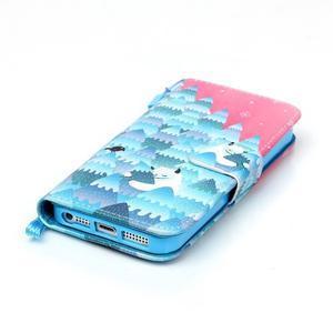 Peňaženkové puzdro pre mobil iPhone SE / 5s / 5 - snežný muž - 4