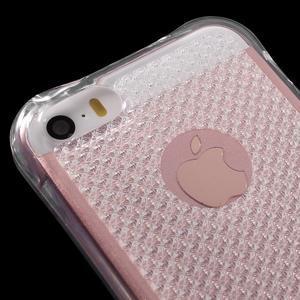 Diamnods gelový obal se silným obvodem na iPhone SE / 5s / 5 - transparentní - 4
