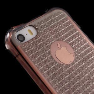 Diamonds gélový obal se silným obvodom na iPhone SE / 5s / 5 - sivý - 4