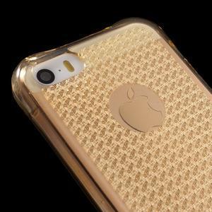 Diamnods gelový obal se silným obvodem na iPhone SE / 5s / 5 - zlatý - 4