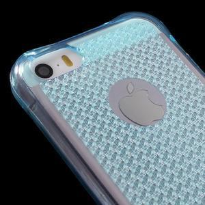 Diamnods gelový obal se silným obvodem na iPhone SE / 5s / 5 - modrý - 4
