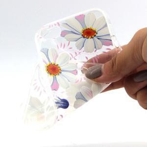 Transparentný gélový obal pre mobil iPhone SE / 5s / 5 - kvetinky - 4