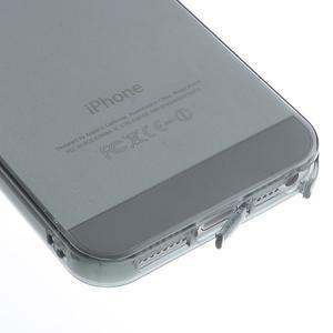 gélový Transparentný obal pre iPhone SE / 5s / 5 - sivý - 4