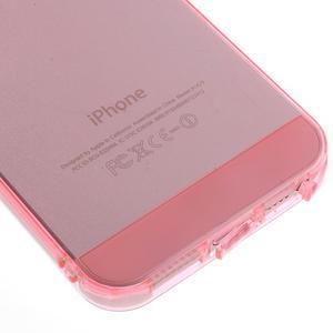 gélový Transparentný obal pre iPhone SE / 5s / 5 - ružový - 4