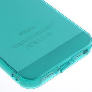 gélový Transparentný obal pre iPhone SE / 5s / 5 - modrozelený - 4
