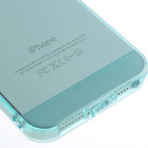 gélový Transparentný obal pre iPhone SE / 5s / 5 - cyan - 4