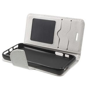 Cross PU kožené puzdro pre iPhone SE / 5s / 5 - biele - 4