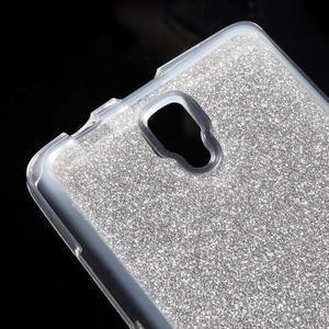 Povrchově třpytivý gelový obal na mobil Lenovo A2010 - stříbrný - 4