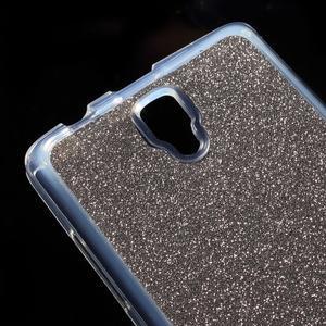 Povrchove trblietavý gélový obal pre mobil Lenovo A2010 - šedý - 4