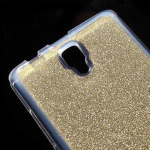 Povrchove trblietavý gélový obal pre mobil Lenovo A2010 - zlatý - 4