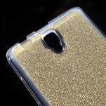 Povrchove trblietavý gélový obal pre mobil Lenovo A2010 - zlatý - 4/5