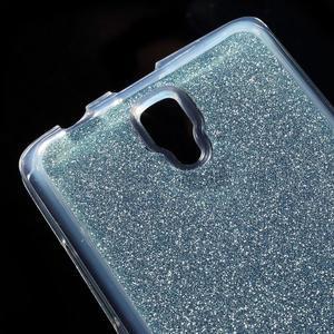 Povrchově třpytivý gelový obal na mobil Lenovo A2010 - světlemodrý - 4