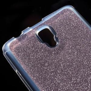Povrchově třpytivý gelový obal na mobil Lenovo A2010 - fialový - 4