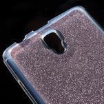 Povrchově třpytivý gelový obal na mobil Lenovo A2010 - fialový - 4/5