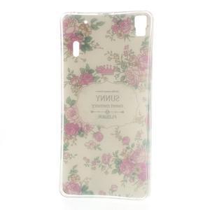 Květinový gelový obal na mobil Lenovo A7000 / K3 Note - bílé pozadí - 4