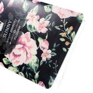 Kvetinový gélový obal pre mobil Lenovo A7000 / K3 Note - čierné pozadie - 4