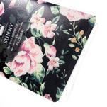 Kvetinový gélový obal pre mobil Lenovo A7000 / K3 Note - čierné pozadie - 4/5