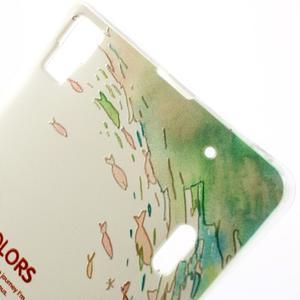 Softy gélový obal pre mobil Lenovo A7000 / K3 Note - rybičky - 4