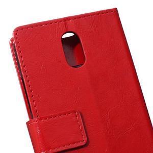 GX koženkové peňaženkové na mobil Lenovo Vibe P1m - červené - 4