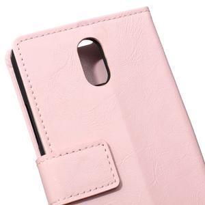 GX koženkové peňaženkové na mobil Lenovo Vibe P1m - růžové - 4