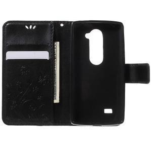 Buttefly PU kožené pouzdro na mobil LG Leon - černé - 4