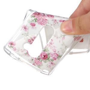 Jelly gelový obal na mobil LG Leon - květiny - 4