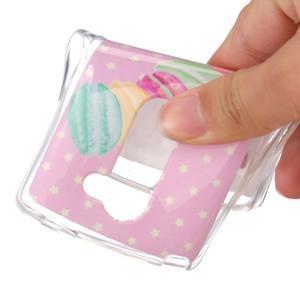 Jelly gelový obal na mobil LG Leon - makrónky - 4