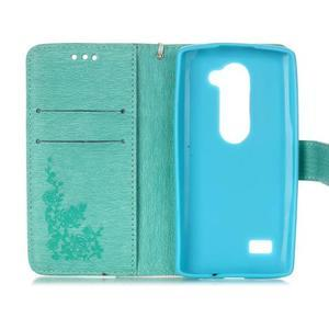 Magicfly puzdro pre mobil LG Leon - cyan - 4