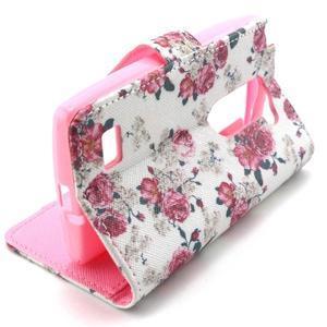 Style peňaženkové puzdro pre LG Leon - kvetiny - 4