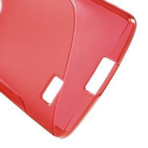 S-line gélový obal pre mobil LG Leon - červený - 4