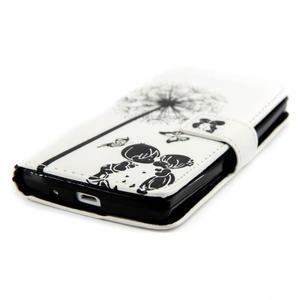 Peňaženkové PU kožené puzdro pre LG Leon - láska - 4