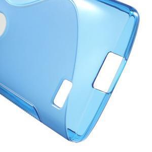 S-line gélový obal pre mobil LG Leon - modrý - 4