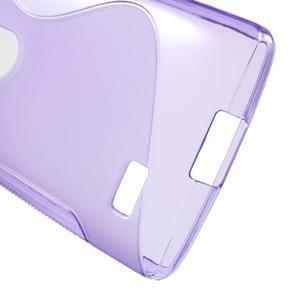 S-line gélový obal pre mobil LG Leon - fialový - 4