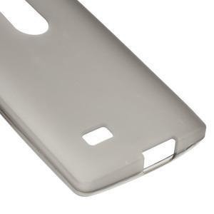 Matný gelový obal na mobil LG Leon - šedý - 4