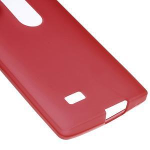 Matný gelový obal na mobil LG Leon - červený - 4