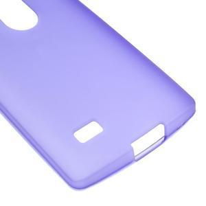 Matný gélový obal pre mobil LG Leon - fialový - 4