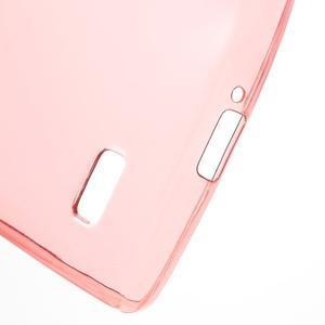 Ultratenký gelový obal na mobil LG Leon - červený - 4