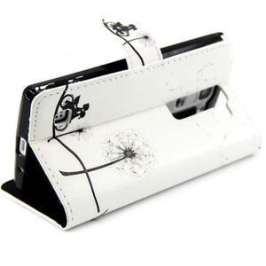 Peňaženkové PU kožené puzdro pre LG Leon - láska na bicykli - 4