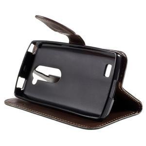 Leaf PU kožené pouzdro na mobil LG Leon - černé - 4