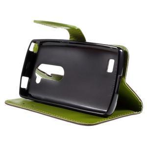 Leaf PU kožené puzdro pre mobil LG Leon - hnedé - 4
