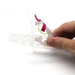 Transparentní gélový kryt na mobil LG Spirit - kotva - 4