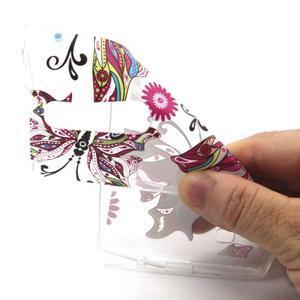 Transparentní gélový obal na mobil LG Spirit - motýl - 4