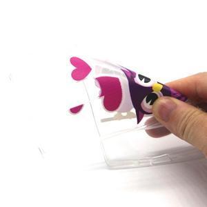 Transparentný gélový obal pre mobil LG Spirit - zamilované malej sovy - 4
