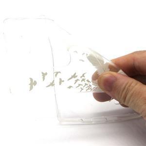 Transparentní gélový kryt na mobil LG Spirit - ptačí pírka - 4