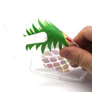 Transparentný gélový kryt pre mobil LG Spirit - ananas - 4